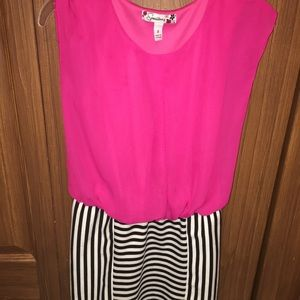 Other - Girl dress pink with white and black stripes